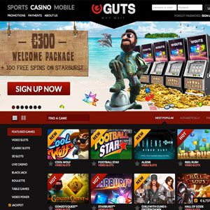 Guts Casino Review 100 Free SPins