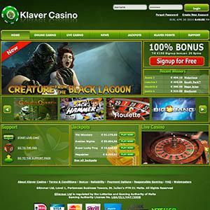 klaver casino bonus code