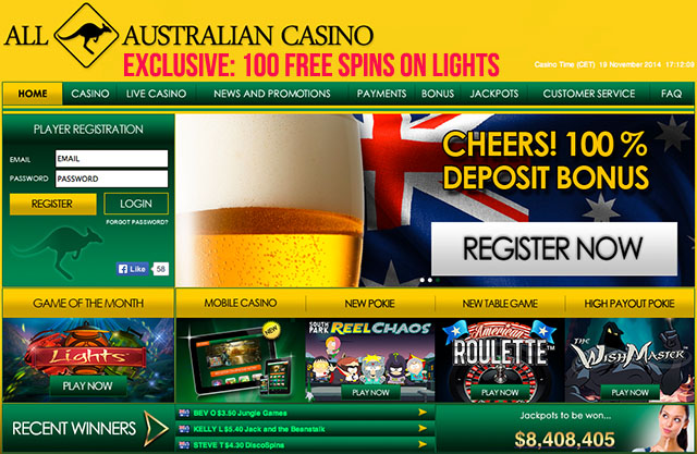 All-Australian-Casino-Exclusive-100-Free-Spins