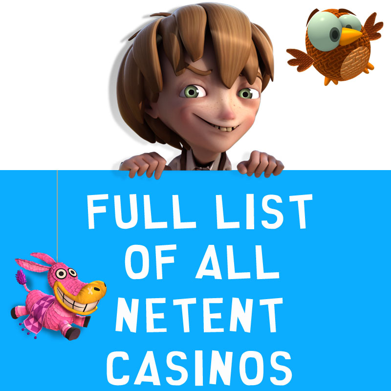 All NetEnt Casinos Full list 2017