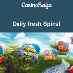 Get 100 Free Spins EVERYDAY at CasinoSaga this weekend