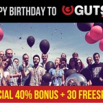 The Best NetEnt Casino… EVER, GUTS turns 2 Today & is giving away €35,000 in cash this month