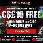 Get your Free No Deposit bonus of €£$10 this October 2015 at NextCasino