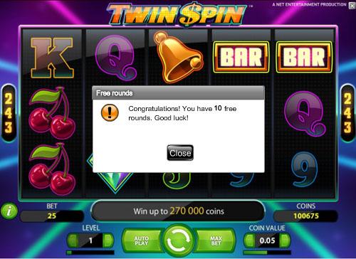 online slots free spins no deposit