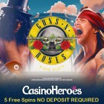 50 NO DEPOSIT Guns N Roses Free Spins now available