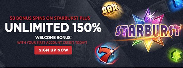 unlimited 150% Bonus