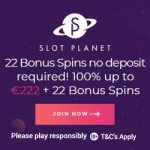 Slot Planet Casino EXCLUSIVE Offer: €10 free bonus + 10 free spins no deposit required