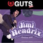 HUGE 250% Bonus + 50 Jimi Hendrix Slot free spins available at Guts Casino