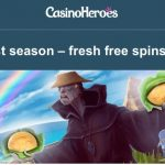 Get 55 Vikings Go Wild free spins at CasinoHeroes from 9 – 12 May 2016