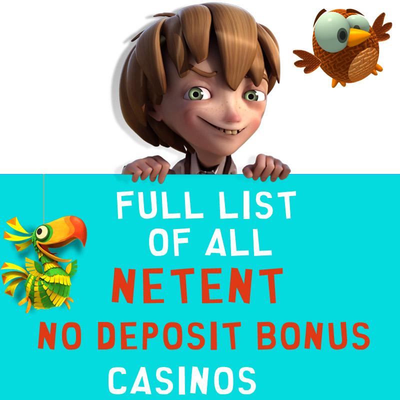 NetEnt No Deposit Bonus Casinos List 2016