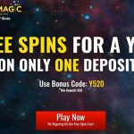 New SlotsMagic Bonus Code to unlock Free Spins for a whole year + Get 10 No Deposit Free Spins on Registration and100% bonus up to €150 and 50 FREE spins on Starburst