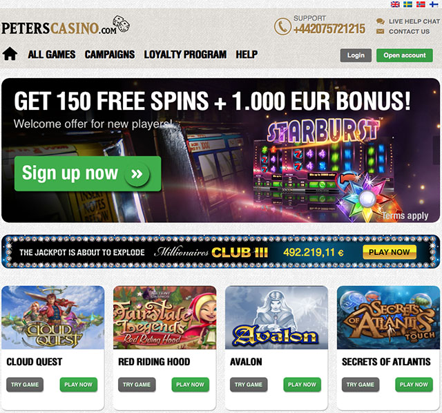 peters casino 20 free spins