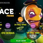 CasinoLuck February 2017 Free Spins | Space Promotion from 7 – 12 February 2017