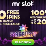 LIMITED OFFER! Get 50 Mr Slot No Deposit Free Spins on Starburst | Use our Exclusive promo codes
