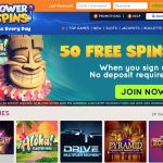 FREE OFFER! 50 No Deposit Free Spins available at PowerSpins Casino today! | NetEntCasinos.Reviews