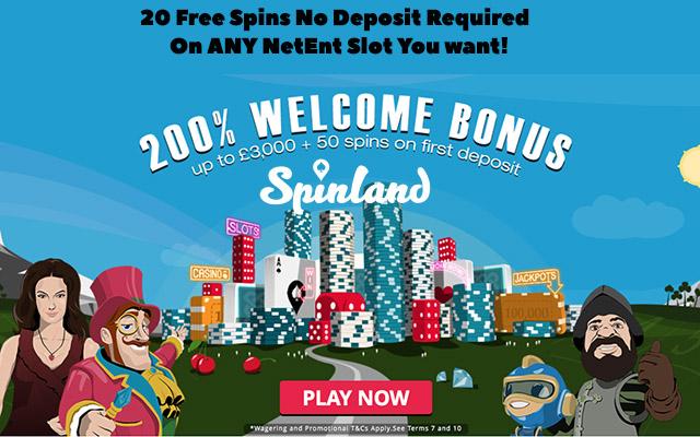 Spinland 50 Free Spins