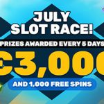 PlayAmo July Slot Race Promotion: €15,000 and 5,000 free spins in the season's main race at PlayAmo!