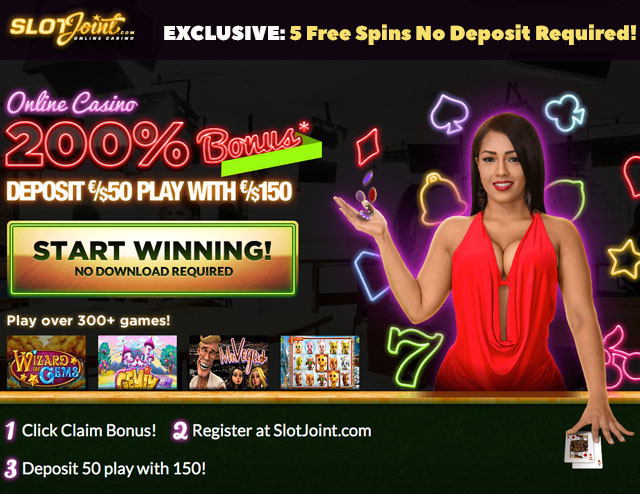 Exclusive Slotjoint Casino 5 Free Spins No Deposit Required 200