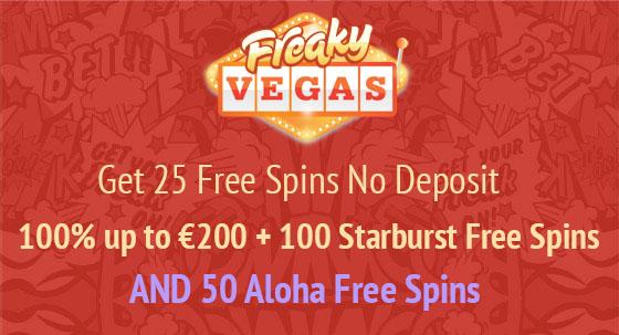 FreakyVegas August Bonus Promotion