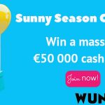 Wunderino Sunny Season Challenge – Take home the €50 000 cash prize!