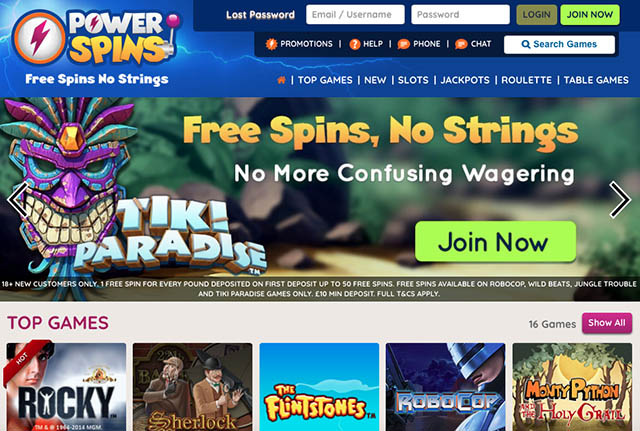 NEW PowerSpins Casino offer