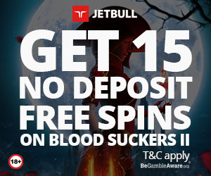 Exclusive Jetbull Casino Bloodsuckers 2 No Deposit Free Spins Now