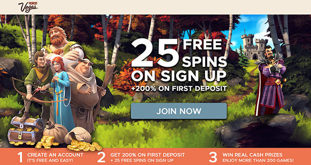 Claim 25 Extra Vegas Casino No Deposit Free Spins Upon Registration