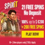 Spinit No Deposit Free Spins now live. Get 21 Book of Dead Free Spins NO DEPOSIT REQUIRED!